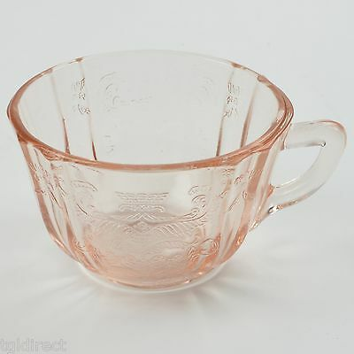 """Indiana Glass Recollection Pink Flat Cup 2 3/8"""" Tall Vintage Tableware Madrid"""