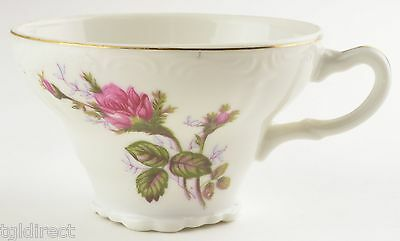 Made In Japan China Moss Rose Pattern Footed Cup Teacup Tea Tableware Pink Gold