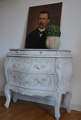 Vintage French Provence Commode Galbée Curved Louis XV Chest of Drawers