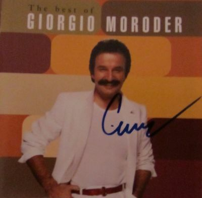 Giorgio Moroder Autogramm autograph signiert auf CD Cover The Best of