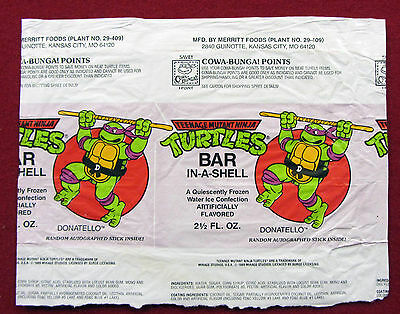 "Teenage Mutant Ninja Turtles ""DON"" BAR IN A SHELL WRAPPER - RARE"