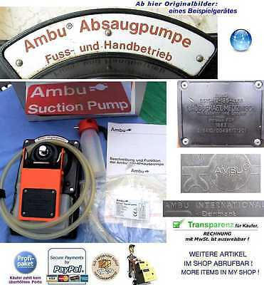 Notfall Ambu Pumpe Uni Absaugpumpe Emergency 1.aid Suction Booster Pump Rtw Drk