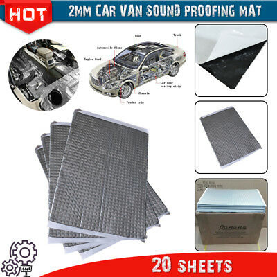 2mm Bulk Pk 20 Sheets Car Van Sound Deadening Vibration Proofing Mat Less Noise