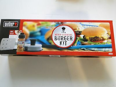 Weber Essential Burger Kit BRAND NEW