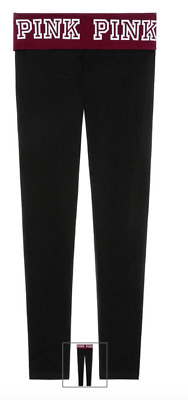 312511a8eab919 VICTORIA'S SECRET PINK Embroidered Deep Ruby Leggings Large - $62.00 ...