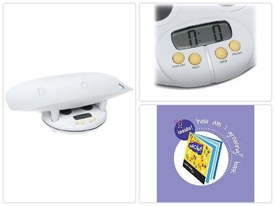 Health o meter Grow with Me 2-in-1 Baby to Toddler Scale with Growth Chart Book
