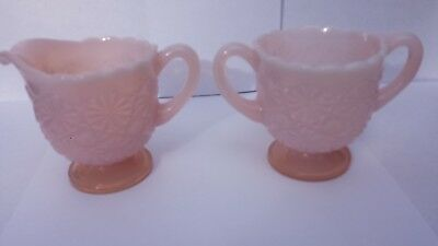 Degenhart Daisy and Button Sugar and Creamer in CROWN TUSCAN