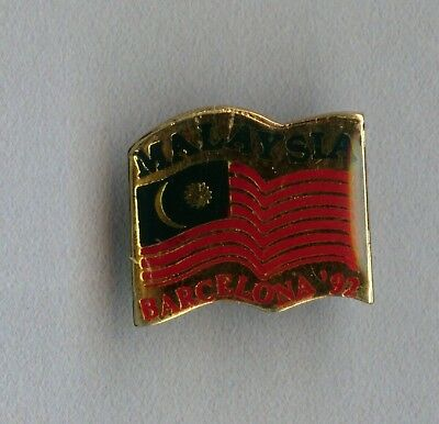 Vintage old Malaysia Official Olympic badge for the games in Barcelona 1992