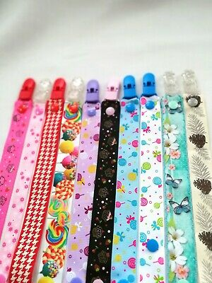 Pacifier clip Dummy Clip Baby girl baby boy 25mm Dummy Chain UK BUY2GET1FREE