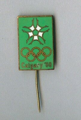 Vintage old Official Olympic sport enamel badge for the games in Calgary 1988