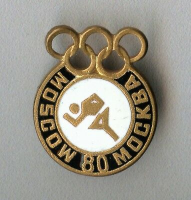 Vintage old Russia USSR Official Olympic badge for the Games in Moscow 1980