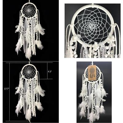 Hanging Dream Catcher Handmade Traditional White Feather Decoration Craft Gift