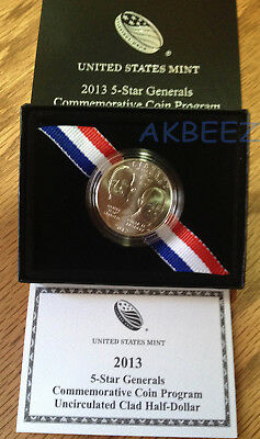 2013-D Five Star Generals Commemorative Clad Half Dollar 5G6 ** Free Ship **
