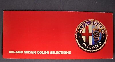 1986-1987 Alfa Romeo Milano Paint Chip Colors Brochure Excellent Original