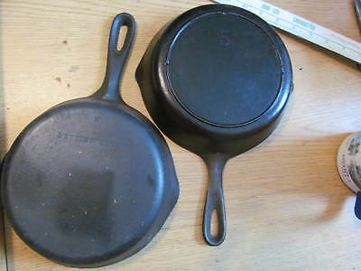 eight inch cast iron skillet. Frying pan vintage antique made in usa