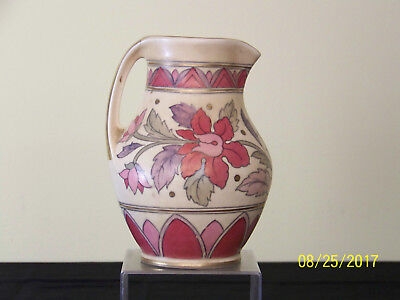 Art Deco c1930 Crown Ducal Art Pottery Floral Decor Pitcher