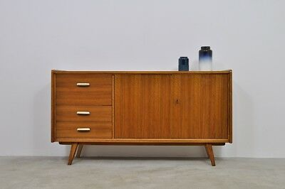 50er 60er Rockabilly Sideboard Kommode Cabinet Walnut Chest Vintage 50s 60s