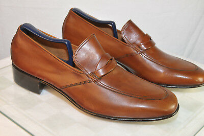 Vintage NOS BALLY Continentals Raldo Brown Loafer Mens 10 B Dress Leather
