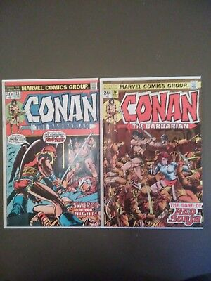 Conan the barbarian #23 and 24 first appearance of red sonja