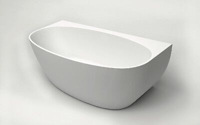 Bathroom Acrylic Free Standing Bath Tub 1500x780x580 Model Carrara Back to Wall