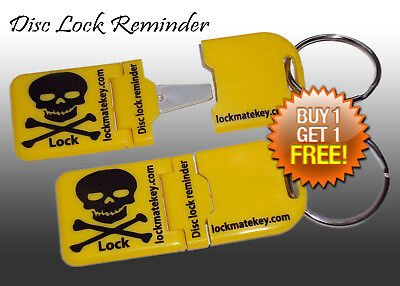 Disc Lock Reminder (Yellow Metal Tip) Motorcycle Accessory