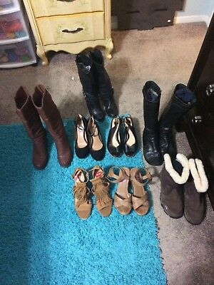 Womens Boots And Shoes Lot