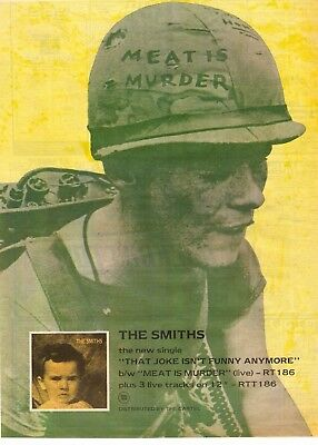 """The Smiths Advert """"meat Is Murder""""  Full Page  A3"""