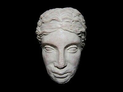 HELLENISTIC TERRACOTTA HEAD OF A YOUNG PRINCE as GREEK GOD DIONYSIUS, REPLICA!!!