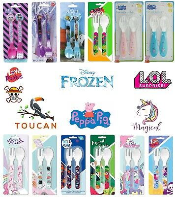 Kids Paw Patrol cutlery Set Trolls,Minion Unicorn Spoon Fork Girls Boys Gift Set