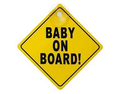 Baby on board car window sign