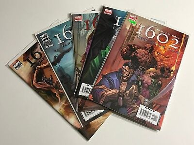 1602 Fantastic Four #1-5 (1, 2, 3, 4, 5) Marvel Run/Lot Complete VF/NM (CJ)