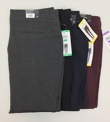 New Hilary Radley Women's Pull On Ponte Pants Stretch Slim Leg Variety