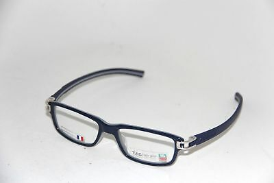 New TAG HEUER TH7602 003 Matte Blue Grey Frame AUTHENTIC Eyeglasses RX 52-17