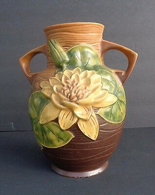 "Roseville Art Pottery Waterlily 77-8 8 1/2"" Tall"
