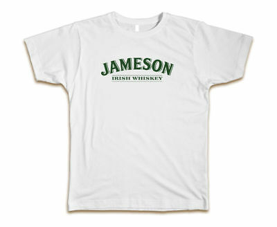 Jameson Irish Whiskey Custom Men's Fashion T-Shirt Tee New -Size S-3XL White