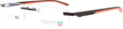 Tag Heuer TH 0844 TH0844 Eyeglasses Matte Palladium Grey Red 012 Authentic 52mm