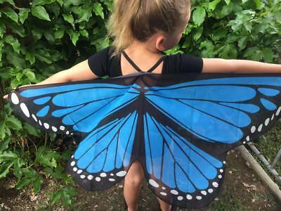 AUST Blue Butterfly Wings Costume Dressup KIDS CHILD New cosplay Soft NEW