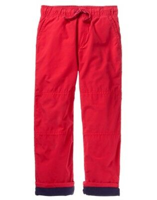 NWT Gymboree Boys Pull on Pants Fleece lined RED Holiday shop Many Sizes
