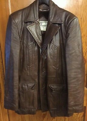 973a98aa3 VINTAGE BERMAN LEATHER Suede Leather Jacket Mens Size 42 - $50.00 ...