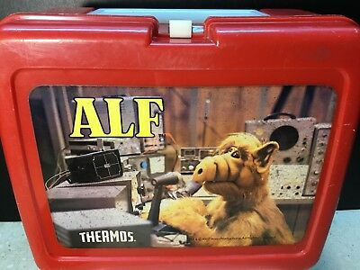 Vintage Alf Red Plastic Lunchbox 1987 Lunch Box Alien Productions No Thermos