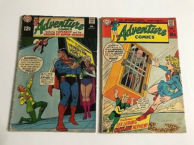 Adventure Comics #377 & 387 Silver Age (DC, 1969) Very Good (CJ)