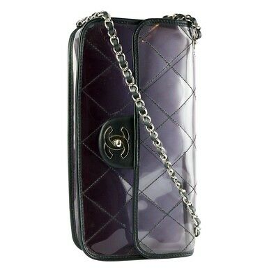 f40ae84b8996 Chanel Transparent Smoke Effect Naked Clear Crossbody Shoulder Classic Flap  Bag