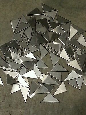 "Weld gusset 304 Stainless steel 50 pieces 3/4"" x 1""+- 18 gage plate, metal sheet"
