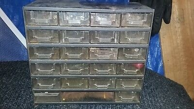 Vintage 24-Drawer Metal Nut/bolt Misc. Small Parts Storage Cabinet Bin Organizer