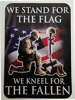 We Stand for the Flag we Kneel for the Fallen car decal