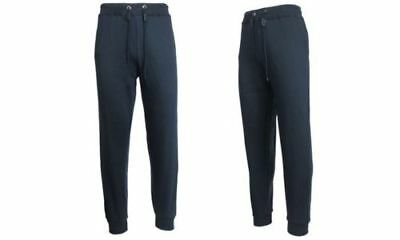 NEW Galaxy By Harvic Men's Soft Denim Style Jogger Pants - Navy - Size: Large