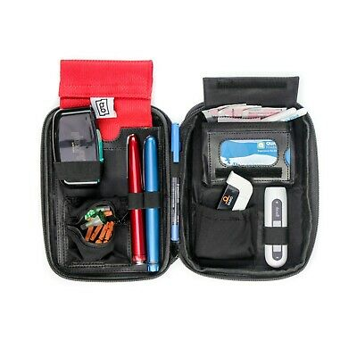 Glucology™ Diabetic Travel Case | Matte Blue | Diabetes Accessories Pen Case