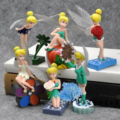 6pc FAIRIES TINKERBELL SECRET OF THE WINGS ACTION FIGURE CAKE TOPPER DISPLAY TOY