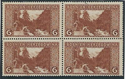 1906 (1 Nov). Pictorials. 6h block of four. PERFORATION VARIETY L13½.*/**