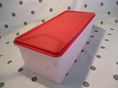 Tupperware 5.7L  Bread Keeper Large Rectangle Container Red Seal New